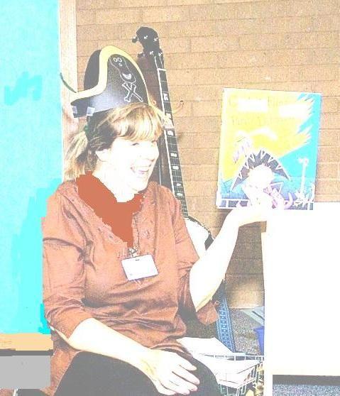 Grandma Bobbee at library storytime.