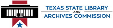 Texas State Library and Archives logo